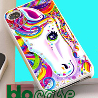 Lisa Frank Majesty The Rainbow Horse For Iphone 4/4s, iPhone 5/5s, iPhone 5C, iphone 6, and iPhone 6 Plus Case