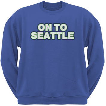On to Seattle Royal Adult Crew Neck Sweatshirt