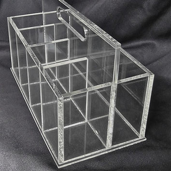 Vintage Lucite Silverware Caddy