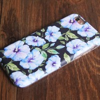 Flowers Morning Glory Tough Protective iPhone XS Max Case Galaxy S8 plus S7 Edge SE Snap Case 241