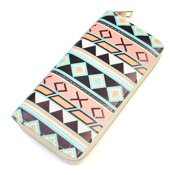 Chevron Zipper Wallet