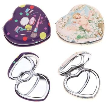 Girl Mini Double Sides Portable Mirror Pocket Makeup Cosmetics Compact Mirrors