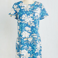 Mid-length Short Sleeves Shift Maui Should Be Together Dress