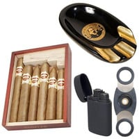 Cuban Crafters Cigars Ashtray and Torch Lighter Combo Hijo