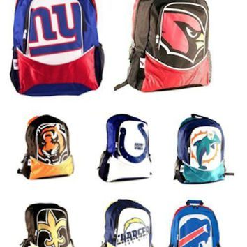 NFL Licensed Backpacks Full Size Logo Hype Style - Pick Your Team