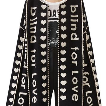 Gucci Blind for Love Jacquard Sweater Coat | Nordstrom