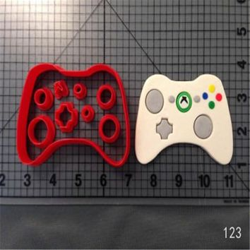 Custom Made 3D Printed Xbox Controller Fondant Cupcake Top Cookie Cutters Set