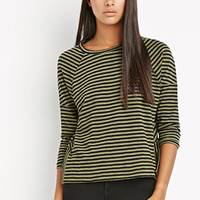 Striped Button-Vent Top