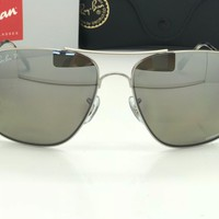 Ray-Ban Sunglasses RB3587CH Polarized Chromance Silver Mirror Lens 003/5J 61mm