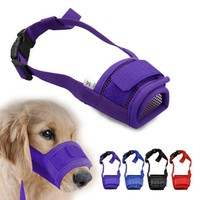 Adjustable Mask Bark Bite Mesh Mouth Muzzle Dog Muzzle