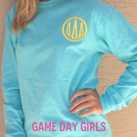 SORORITY Comfort Color  Long Sleeve T'S by GameDayGirlsandGifts