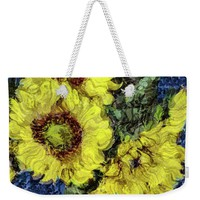 Impressionistic Sunflowers Weekender Tote Bag for Sale by Susan Eileen Evans