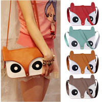Nice Owl Fox Messenger Handbags-Brown