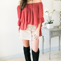 Go With The Flowy Off the Shoulder Top