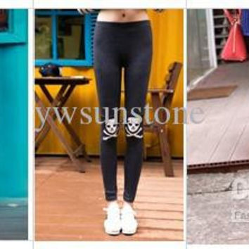 New Fashion Skull Women Leggings, High quality Skinny skeleton Tights for Lady, 6pcs/lot, Free Shipping