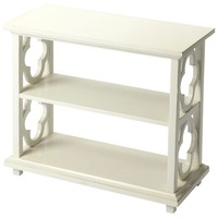Paloma Transitional Rectangular Bookcase White