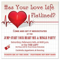 Valentine's Day Invite | Jump-start Your Heart Mix & Mingle Party!