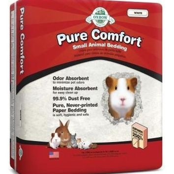 Oxbow Pure Comfort Small Pet Bedding White 16L/42 Liters