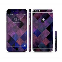 The Dark Purple Highlighted Tile Pattern Sectioned Skin Series for the Apple iPhone 6