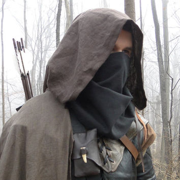 Black Face Mask, Thief, Ranger - Costume Cosplay Accessory