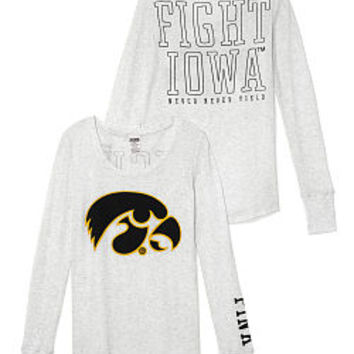 University of Iowa Long-sleeve Thermal Tee - PINK - Victoria's Secret