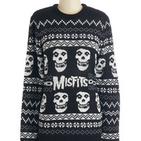 ModCloth Long Sleeve We Wish You a Merry Misfits Sweater