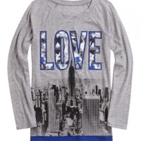 Long Sleeve Graphic Tunic | Girls Tops Clothes | Shop Justice