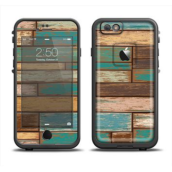 The Colored Vintage Solid Wood Planks Apple iPhone 6 LifeProof Fre Case Skin Set