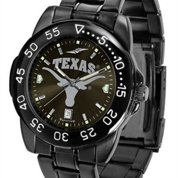 Texas Longhorns Watch Fantom Gunmetal Mens Black Dial