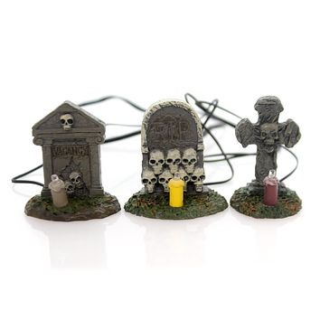 Dept 56 Accessory Spooky Graveyard Vigil Village Lighted Halloween Accessory