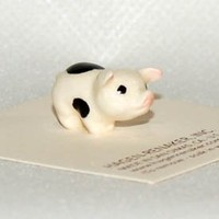 Hagen Renaker Miniature Hand-painted Ceramic Pig Baby Set 823 and 824