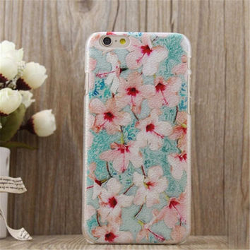 Retro Floral Print Case Cover for iPhone 5s 6 6s Plus