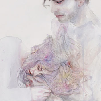 this should be the place Art Print by Agnes-cecile