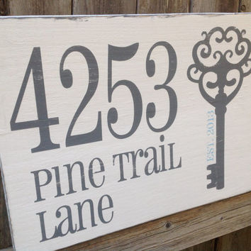 Personalized Address Sign; New Home gift, Anniversary Gift, Family Gift - Special Dates, Important Dates