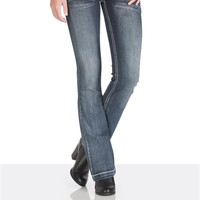 3 Button Bootcut Stretch Jeans - Medium Sandblast