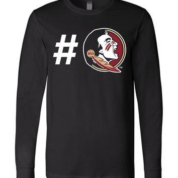 Official NCAA Florida State University Seminoles FSU Noles Long Sleeve T-Shirt - 44FSU-1