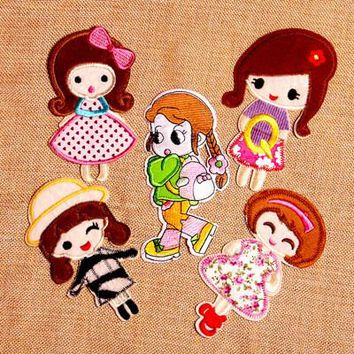 Cartoon Girl Patches