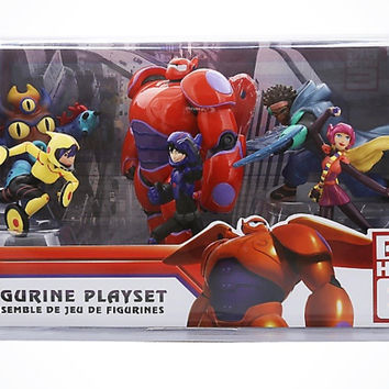 Disney Store Big Hero 6 Play Set Figurine Cake Topper 6pcs New with Box