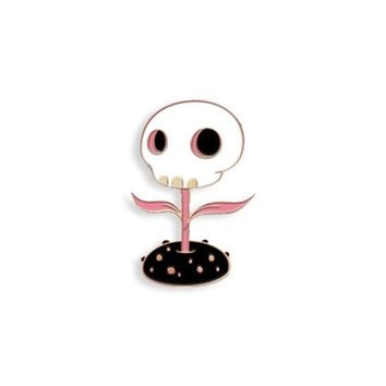 Skull Flower (Pink Edition) pin By Tara Mcpherson