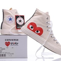 kuyou PLAY x Converse Chuck Taylor- 'Hidden Heart' White High Sneaker