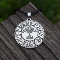 Gold or Silver color - Celtic Tree Of Life Pendant Runes Amulet Necklace