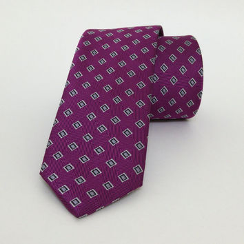 "Purple spotted Skinny Tie 2.36"" (6 cm) Purple spotted tie - Purple spotted necktie - Purple spotted cravat - DK655"