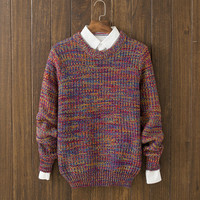 Casual Mens Comfortable Winter Warm Slim Fit Multicolor Sweater