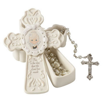 Precious Moments This Is The Day The Lord Has Made Girl Rosary Box