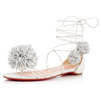Starouchi Flat Latte Leather - Women Shoes - Christian Louboutin