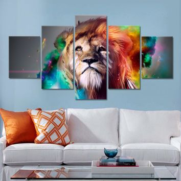 Lion Eagles Painting Wall Pictures