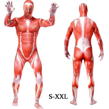 Cool Attack on Titan Onesuits Lycra Spandex Stretch Skin-tight Zentai Suit  Adult Halloween Muscle Cosplay no  Bodysuit AT_90_11