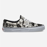 Vans Newsprint Era Shoes Black/White  In Sizes