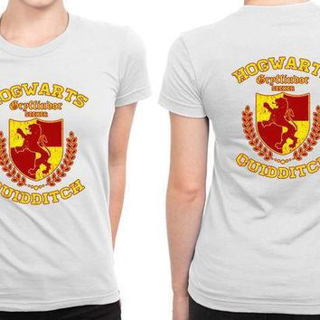 Hogwarts Gryffindor Quidditch B 2 Sided Womens T Shirt