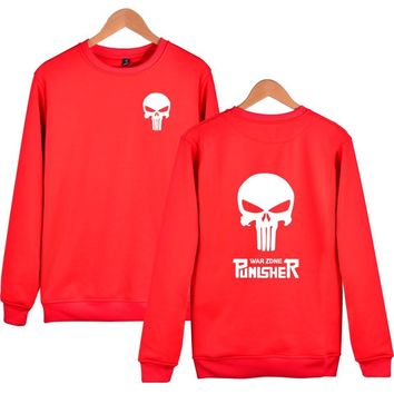 American drama Male Punisher Wei Yiwei clothes skull head casual personality trend fashion coat